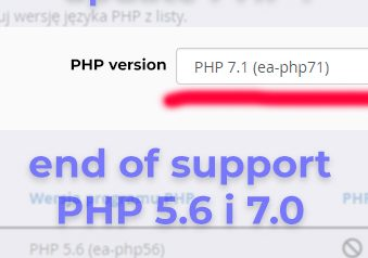 end of php 5.6 and php 7.0 support